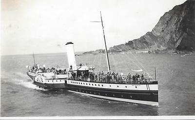 Paddle Steamer PS Britannia P&A Campbell White Funnel Ilfracombe Photograph