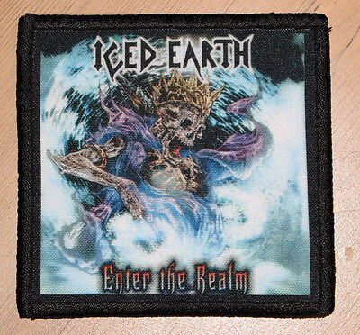 """ICED EARTH """"ENTER THE REALM"""" silk screen PATCH"""