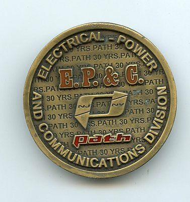 PATH Electrical-Power and Communication Division Belt Buckle  NY NJ Subway