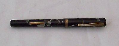 Commander Fountain Pen Nice Color Mottled Green Lever Fill