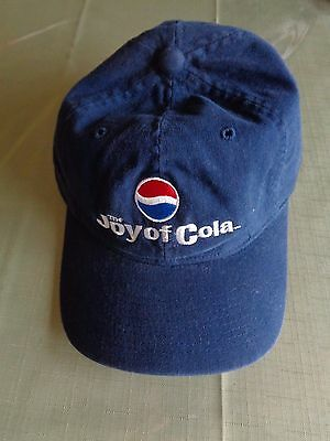 Vintage Pepsi Cola Cap Snapback Hat Snap Back Employee Joy Of Cola 1990's