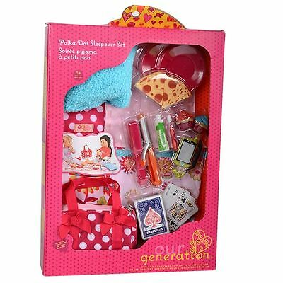 Our Generation Doll Polka Dot Sleepover Accessory Set