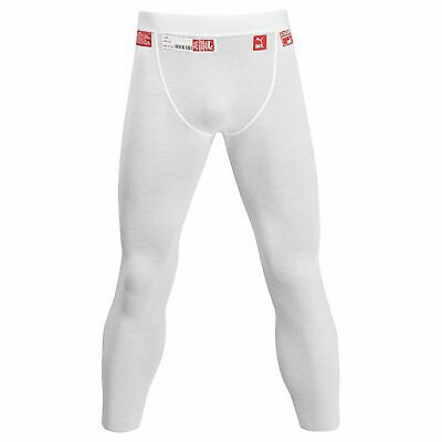 Puma Race/Rally Nomex Long John Bottoms/Base Layer In White Medium (M)/Large (L)