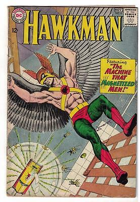 DC Comic HAWKMAN Silver age #4 superman justice league  VG- 1st Zatanna