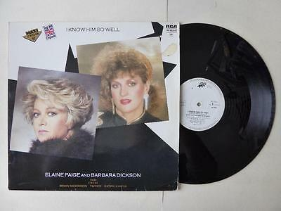 "Elaine Paige & Barbara Dickson I Know Him So Well From Chess Vinyl 12"" Single"