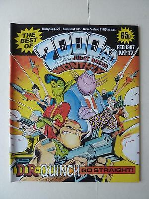 The Best Of 2000AD Featuring Judge Dredd Monthly No 17 1987 VGC