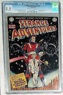 DC Comics high GRADE FN 5.5 STRANGE ADVENTURES  #9   SCi Fi 1951 Golden age