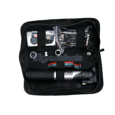 All in One Bicycle Inner Tube Tyre Puncture Repair Tools Kit with Bike Pump