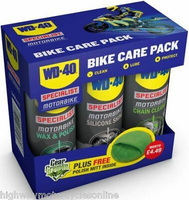 Motorcycle Christmas Gift Wd 40 Care Pack Chain Cleaner Lube + Polish Ltd Stock