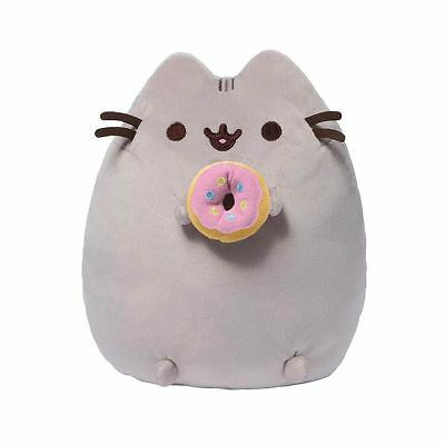 "Pusheen The Cat Plush Pusheen with Donut Official Gund Brand 9"" Soft Cuddly Toy"