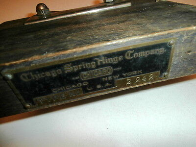 Antique Chicago Spring Hinge Co Type 2242 Store Counter- Salemans Sample Display