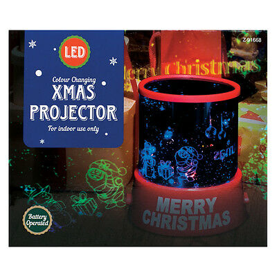 Colour Changing LED Christmas Projector Night Light Xmas Lighting