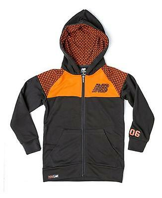 New Balance Toddler Boys Charcoal & Orange Fleece Hoodie Size 2T 3T 4T
