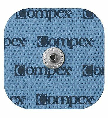 "Compex Easy Snap Performance Electrodes, 2"" x 2"" (20 Count) Brand New!"