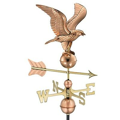 Good Directions American Eagle Weathervane - Polished Copper - 1776P