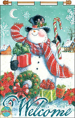 Jeweled Banner Kit ~ Design Works Welcome Snowman XMAS Holiday Banner #DW4230