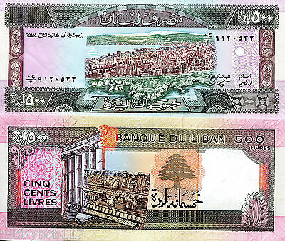 LEBANON 500 Livres Banknote World Paper Money UNC Currency Pick p-68 Bill Note