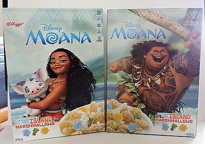 2016 Disney's Moana Sweetened Cereal Collector's Edition Kellogg's Cereal Box