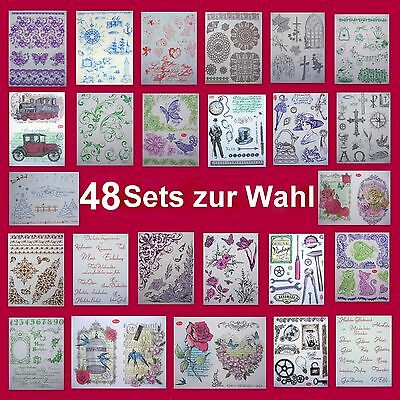 Silikonstempel Set - !!! 48 !!! Sets  zur Wahl - Viva Decor - Clearstempel -