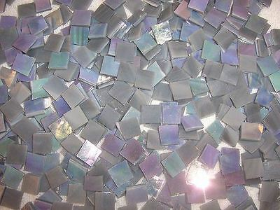 Mini Gray Iridescent Stained Glass Mosaic Tiles