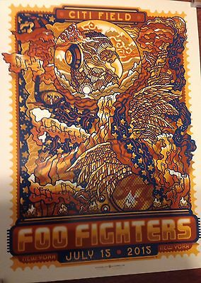 Foo Fighters Guy Burwell Citifield Ny Mets Poster 7/15/15 Numbered Only 330