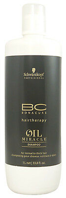Schwarzkopf BC Bonacure Oil Miracle Shampoo for Normal to Thick Hair 33.8 oz