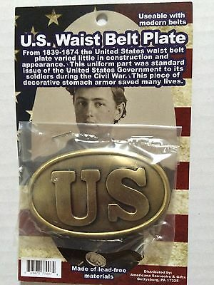 Civil War U.s. Union Waist Belt Buckle Replica New  3.25 Inches  Carded 77007