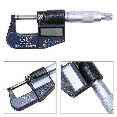 """New 0-1"""" 0.00005"""" Digital Electronic Outside Micrometer Carbide Tip 0-25mm"""