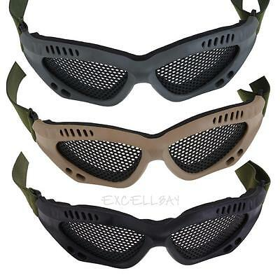 Airsoft Tactical Eyes Protection Metal Mesh Glasses Goggles Eyewear New