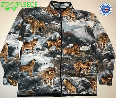 ZooFleece Wolves Winter Wolf Moon Pack Jacket Coat Sweater Dogs Pet Warm S-XL
