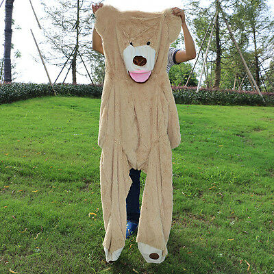 """Hot/200cm Super Huge Teddy Bear (Only Cover) Plush Toy Shell (With Zipper) 79"""""""