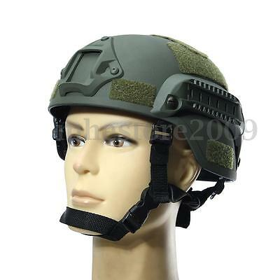 MICH2000 Green Outdoor Airsoft Military Tactical Combat Riding Hunting Helmet