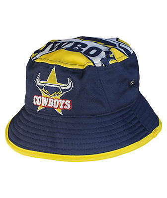 221300 North Queensland Cowboys Nrl 2017 Bucket Hat S/m Team Colours Adult Size