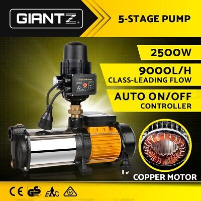 Giantz Multi Stage Water Pump High Pressure Rain Tank Garden Farm Irrigation