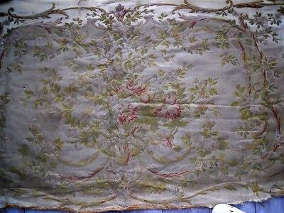 Second Aubusson  Baroque Sofa Tapestry Antique French  Marie Antoinette