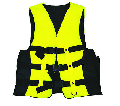 Polyester Adult Life Jacket Universal Swimming Boating Ski Vest+Whistle New WF