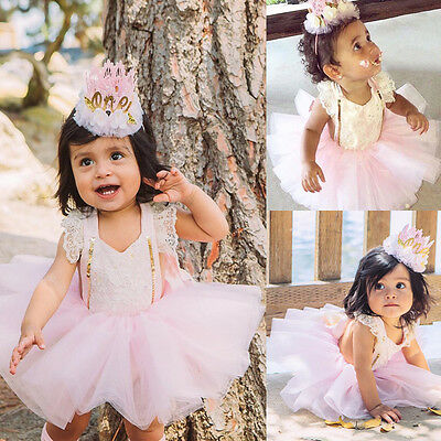 XMAS Infant Baby Girls Lace Romper Jumpsuit+Tutu Tulle Skirts Sunsuit Outfits
