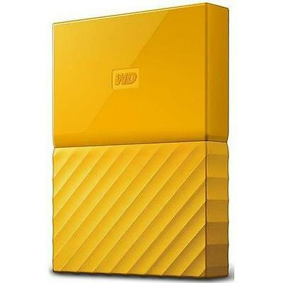WD My Passport WDBYNN0010BYL-WESN 1 TB External Hard Drive - USB 3.0 - Yellow