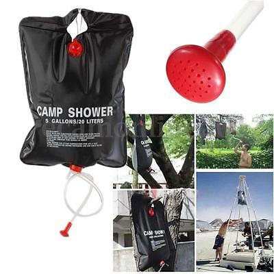 20L Portable Solar Heated Shower Water Bathing Bag Outdoor Camping Hiking Camp