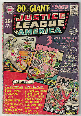 DC Comics JUSTICE LEAGUE OF AMERICA The World's Greatest Superheroes No 39 VG-