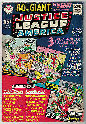 DC Comics JUSTICE LEAGUE OF AMERICA The World's Greatest Superheroes No 39 VG