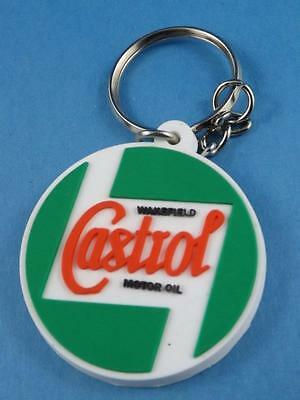Castrol Motor Oil Advertising Rubber Key Chain Key Ring Fob Oil Tin Collector