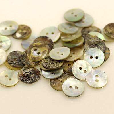 Hot Sale 100PC Sewing Neutrals Mother of Pearl Shell Buttons 8MM Decorative 2016