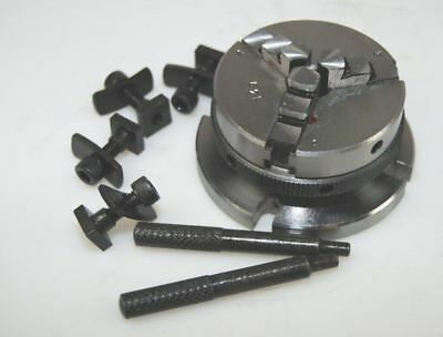 3 Jaw Lathe Chuck & Unimat Threaded Backplate For Rotary Table