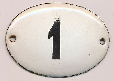 1900s Imperial Russia Apartment Flat Door Hot Enamel Number Sign #1