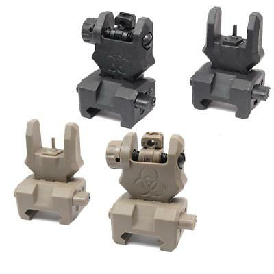 FMA Airsoft Gen 3 Front Ris Rail Flip Up Sight Quick Release Polymer M Series