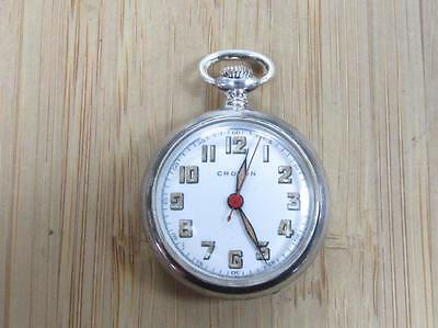 Antique Croton Pocket Watch w/ Sterling Silver Case; 17-Jewels ~ 18-I3570