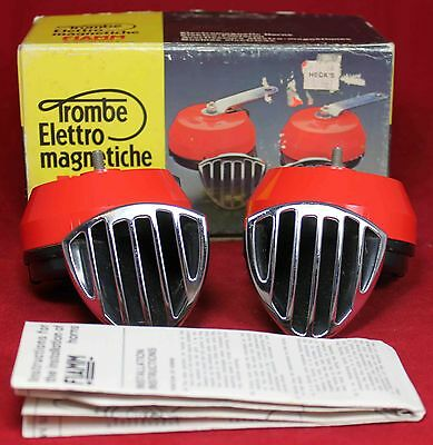 Fiamm Tipo CTP E2 838 Horn Set - NOS - Motorcycle - Scooter - Audi BMW Ducati