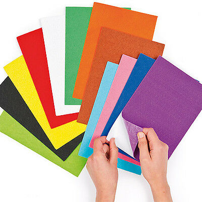 Self-Adhesive Assorted Felt Sheets, for Kid's Collage & Crafts (Pack of 18)