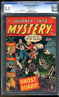 MARVEL Comics  3.5 Journey into mystery  #7 1953 Golden age GHOST GUARD